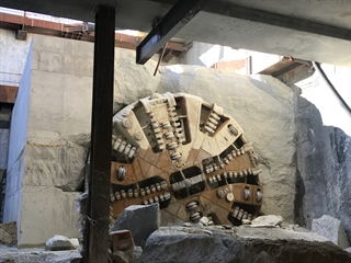Tunnel boring machines reach Airport Central Station