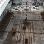 Redcliffe Station base slab steel reinforcement construction - August 2018
