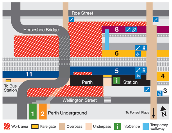 Perth Station Layout changes