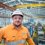 At Forrestfield segment production facility - October 2018