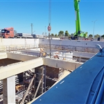 Forrestfield Station dive structure prior to construction of floating ground slab for the portal building - January 2019