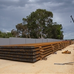 Rail stored at Bayswater Junction - March 2020