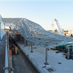 Northern platform roof structure - January 2020