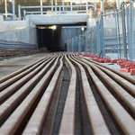 Welded rail strings at Bayswater Junction - August 2020