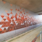 High Wycombe Station retaining wall artwork - July 2020