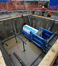 Launch of micro TBM for Bayswater main drain works - June 2018 (Photo credit - David Bayliss)