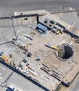 Aerial view of Airport West emergency egress shaft site - January 2019