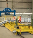 Segment crane prepares to lift ring segment at production facility - August 2018